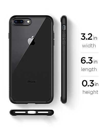 Spigen Ultra Hybrid [2nd Generation] iPhone 7 Plus Case/iPhone 8 Plus Case with Clear Backing and Air Cushion Technology for iPhone 7 Plus (2016)/iPhone 8 Plus (2017) - Black by Spigen (Image #8)