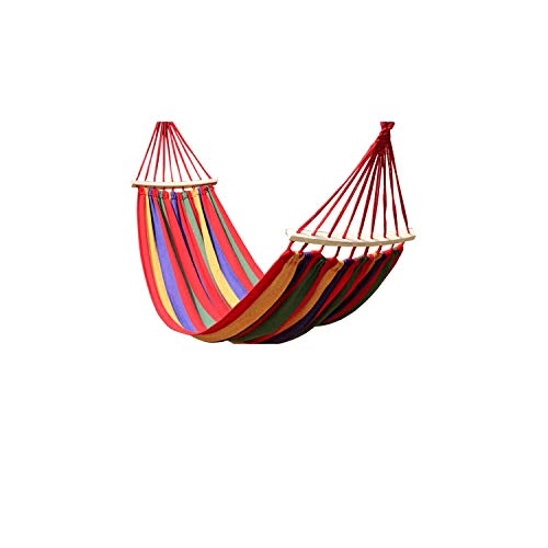 g Canvas Stripe Hang Bed Hammock Garden Sports Home Travel Camping Hammocks E2S,Red M ()