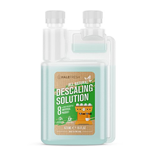 Descaling Solution Coffee Maker Cleaner - Simple All Natural 8 Uses Per Bottle