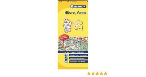 Map Of Yonne France.Michelin Map France Nievre Yonne 319 Maps Local Michelin