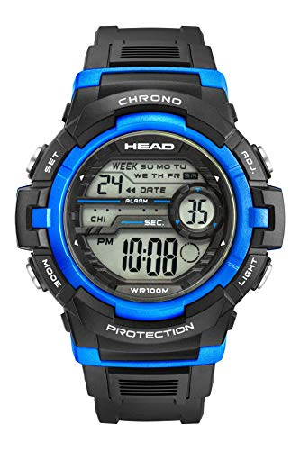 Rally Men s Digital Sport Watch 10ATM Waterproof and Shock Resistant in Black and Blue.World Time Zones Alarm and Timer, Stopwatch, Night Light. Designed in Italy