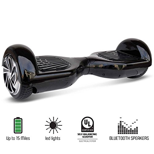 NHT 4.5 to 6.5 Wheel Hoverboard Electric Smart Self Balancing Scooter Black//Blue//Pink//Red//White//Bluetooth Available On Select Model UL2272 Certified