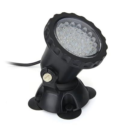 36 LED Lámpara Foco Acuario Pecera Sumergible Submarino Luz Multicolor