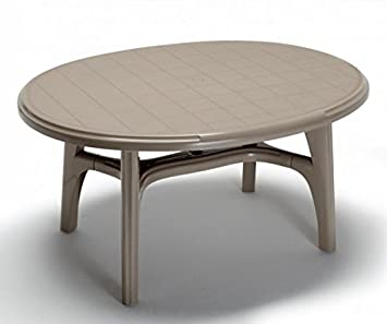 Ideapiu Table de Jardin en Plastique, Table de Jardin Ovale 150 x ...