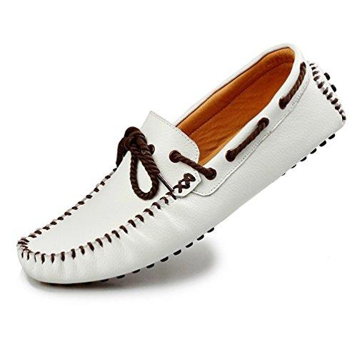 [ジョイジョイ] デッキシューズ メンズ ドライビングシューズ 春夏 ビジネス 革靴 ローファー スリッポン モカシン 軽量 撥水 サンダル フラット リーガル 紳士靴 黒 ホワイト イエロー ブラック 大きい