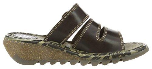 FLYA4|#Fly London Thea724fly, Heels Sandals Para Mujer Marrón (Dk. Brown 001)
