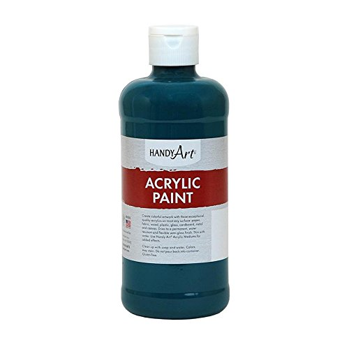 Handy Art by Rock Paint 101-050 Student Acrylic Paint, 1, Phthalo Green, 16-Ounce