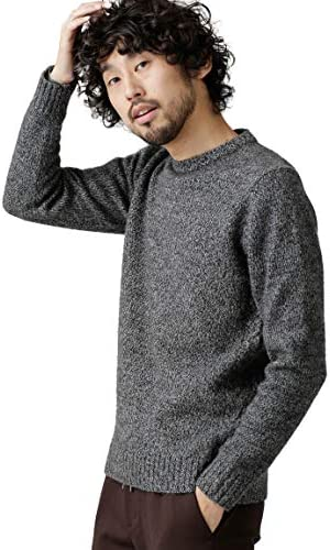 [ナノユニバース] セーター AIR YARNミックスクルーニット メンズ
