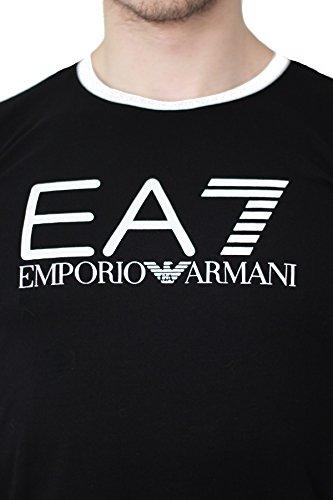 EA7Emporio Armani Herren T-Shirt, kurzärmlig, Schwarz