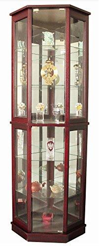 Wonderful Amazon.com: Jenlea Lighted Standing Corner Curio Cabinet and  CZ15