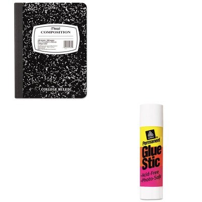 KITAVE00166MEA09910 - Value Kit - Avery Permanent Glue Stics (AVE00166) and Mead Black Marble Composition Book (MEA09910)