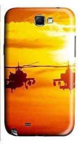 Samsung Note 2 Case Helicopter Military 3D Custom Samsung Note 2 Case Cover