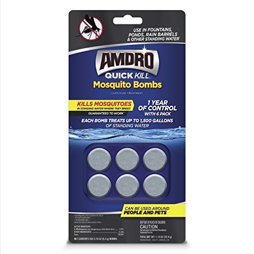 Amdro 100530552 Quick Kill Bombs Mosquito Larvae Killer, 6 PK