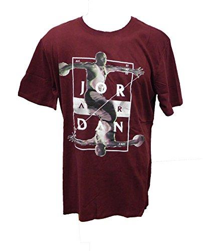Nike Air Jordan T-Shirt-801568-681 burgendy--large by Jordan