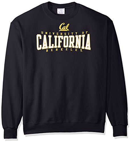 NCAA Cal-Berkeley Men's Power Blend Fleece Crew Neck Sweatshirt, X-Large, Navy (Sweatshirt Berkeley Cal)