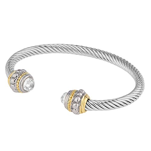faceted-cubic-zirconia-two-tone-open-cuff-bangle-crystal