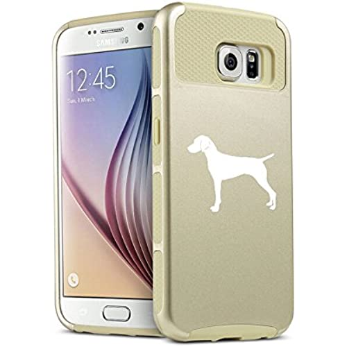 Samsung Galaxy S7 Shockproof Impact Hard Soft Case Cover Vizsla (Gold) Sales