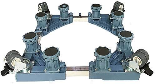 ChenCheng 家具ムーバー洗濯機冷蔵庫ベース棚特別な三脚防水ベルトユニバーサルホイールステンレス鋼モバイルモデル調節可能ユニバーサルタイプ2色 household products (Color : Blue)