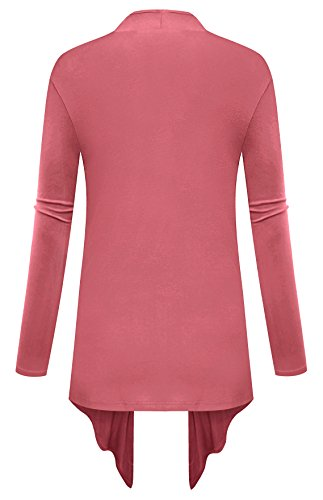 Open light Coral Para Front Cardigan Mujer 02 Clothes Am 08wRqt