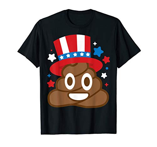 American Poop Emoji Funny 4th Of July Independence Day Gift -
