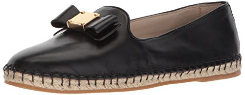 Cole Haan Women's TALI Bow Espadrille Loafer, Black Leather, 6.5 B US