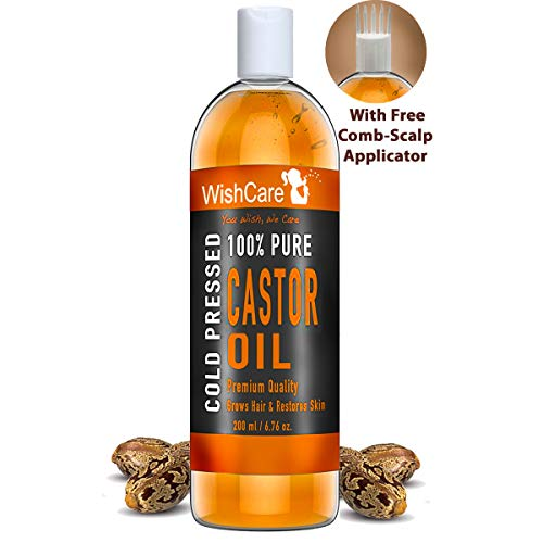 WishCare Premium Cold Pressed Castor Oil - Pure & Virgin Grade - For Healthy Hair and Skin - 200 Ml