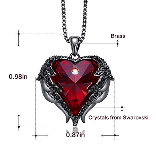 ff72c6b35 CDE Angel Wing Pendant Necklace White Gold Plated Women Jewelry Heart of  Ocean Made with Swarovski