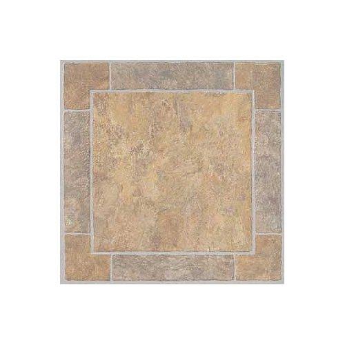 Floor Tile 9 Boxes Covers (Madison Vinyl Self Stick Floor Tile 7694 Home Dynamix Flooring - 1 Box Covers 9 Sq. Ft.)
