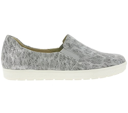 CAPRICE Slip On Women's Genuine Leather Shoes Grey 9-24672-28 214 8wUe2F91oP