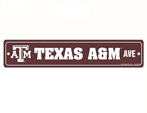 Wincraft NCAA Texas A&M Aggies Full Color Street Sign, 3.75 x 19 Maroon