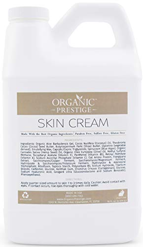 Luxury Anti Aging Face Cream With Coconut Oil and Aloe Vera - Skin Lightening Cream and Dark Spot Corrector for Face - Anti Wrinkle Cream and Face Moisturizer for Dry Skin - Natural & Organic (64 oz)