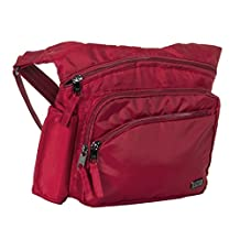 Lug Women's Sidekick Excursion Pouch Cross Body Bag, Cardinal Red, One Size