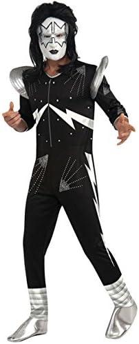 Original Kiss Spaceman Señor Disfraz Negro Plata: Amazon.es ...