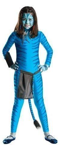 girls official avatar neytiri film blue halloween fancy dress