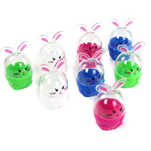 ic Easter Egg Hunt Kit Bunny Shaped Toothpick Holder Detachable Conthainer Fillable Decoration Pink, Colorful, 2.3 * 4'' ()