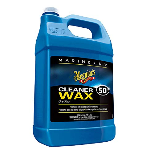Meguiar's M5001 Marine/RV One Step Cleaner Wax, 1 gallon (Meguiars Flagship Premium Marine Wax 32 Oz)