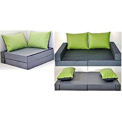 Sofá cama mueble para niño infantil Collage 3 en 1 (gris ...
