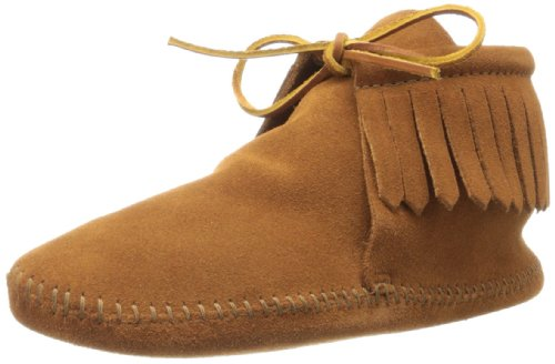 Minnetonka Men's Classic Fringe Boot, Softsole Brown, 10 M - Moccasins Medieval