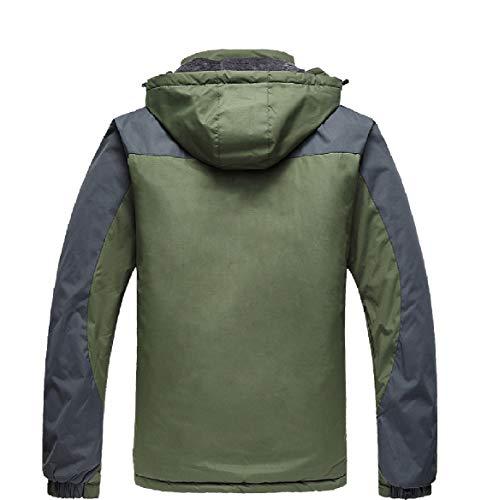Snowproof Army Thicken Howme Jacket Men Green Hoode Waterproof Down Warm Windproof wqxaxZYS