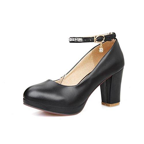 GTVERNH-Señora 7Cm Los Zapatos De Tacón Alto Single Negrita Y Zapatos De Mujer Primavera Ranurado Superficial Cabeza Redonda Presidente Choo Zapatos red