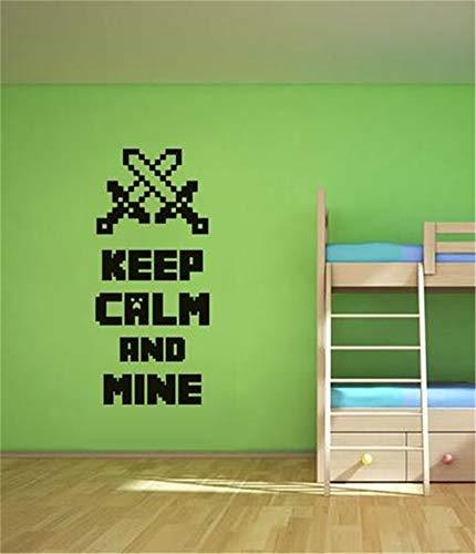 Wall Sticker Family DIY Decor Art Stickers Home Decor Wall Art Keep Calm and Mine ()