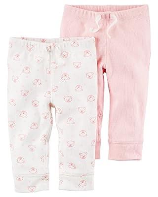 Carter's Baby Girls' 2-Pack Pants Set