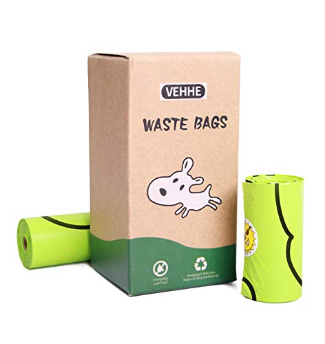 VEHHE Dog Poop Bags Extra Thick Waste Earth-Friendly Bags for Dogs Leak Proof Easy Detach & Open...
