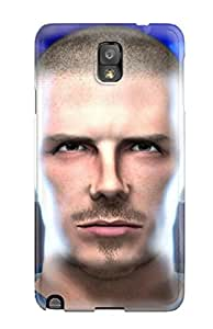 Tpu Case Cover For Galaxy Note 3 Strong Protect Case - David Beckham Soccer Design