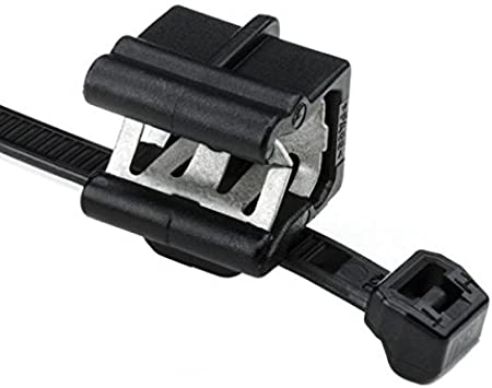 Hellermann Tyton 156-00878 Cable Tie and Edge Clip, 50 lbs, 8.0 Long, EC24, Panel Thickness .12-.24, PA66HS, Black (Pack of 500) by Hellermann Tyton: Amazon.es: Bricolaje y herramientas
