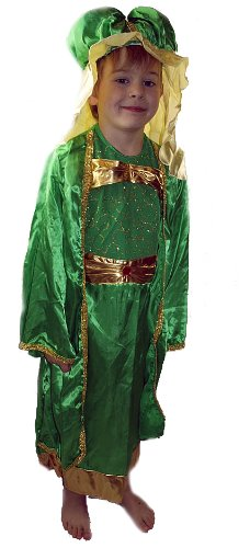 Green King Wise Man Christmas Nativity Play Dressing Up