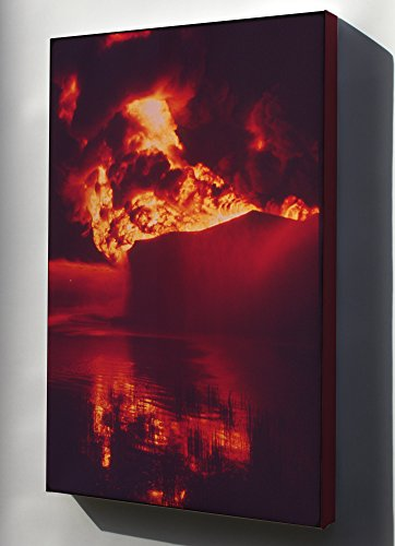 Texaco Tank - Canvas 24x36; A Texaco Crude Oil Tank Blazes Against The Night After Being Struck By Lightning Nara 543929