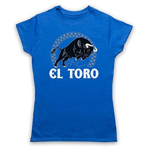 El Toro Spanish Bull Camiseta para Mujer Azul Real