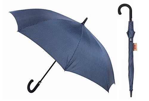 Parachase Men's Ultrastrong Windproof Fiberglass Stick Umbrella with Blue (Fiber Stripe)
