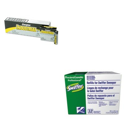 kiteveen91pag33407bx-value-kit-swiffer-dry-refill-system-pag33407bx-and-energizer-industrial-alkalin